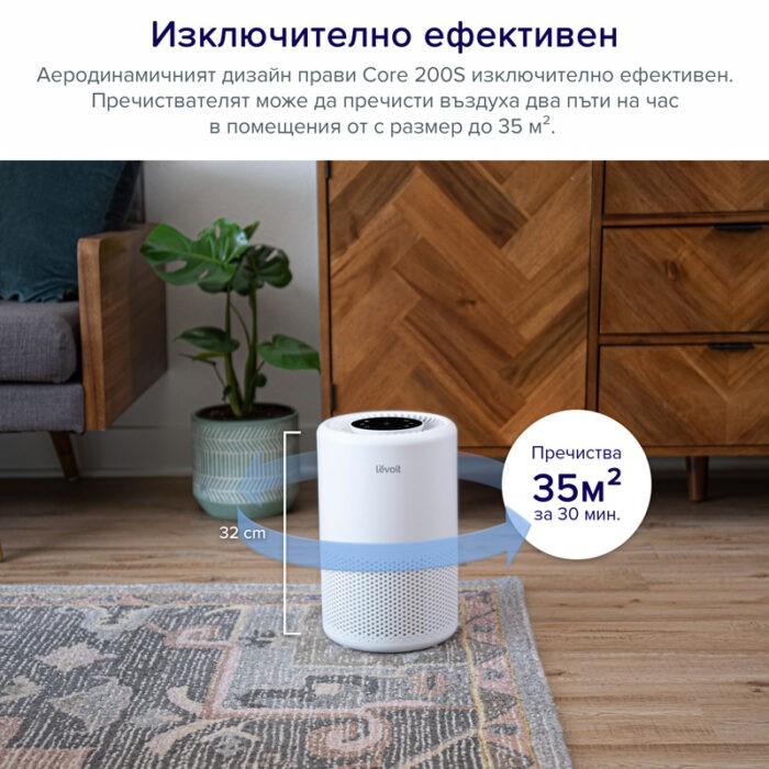 Пречиствател за въздух Levoit Core 200S, 35㎡